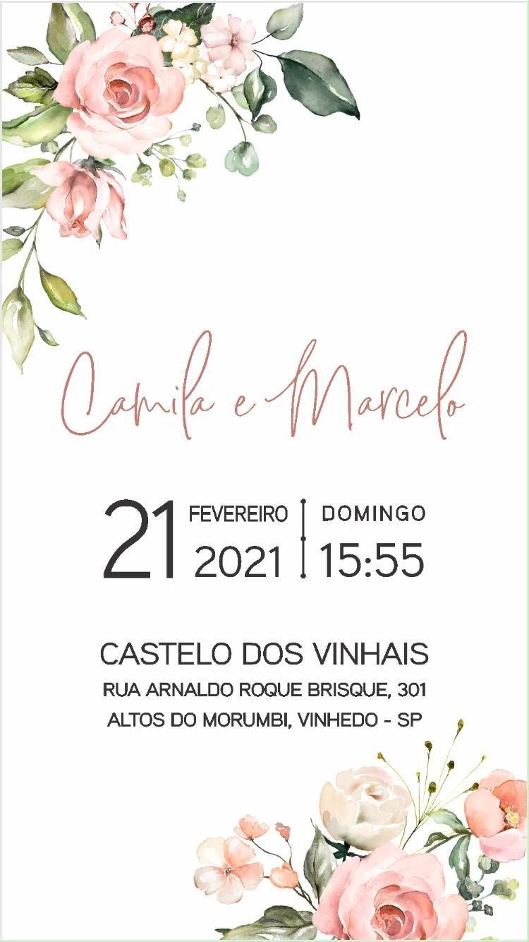 Convite Casamento Virtual Blush