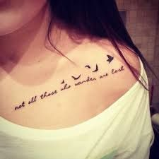 Not All Those Who Wander Are Lost Tattoos Google Search Bird