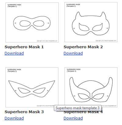 Free Printable Superhero Masks  Isaiah    Free