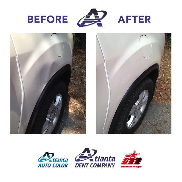 Paintless Dent Repair Of A 2014 Buick Enclave Atlanta Dent Company Car Dent Repair Repair