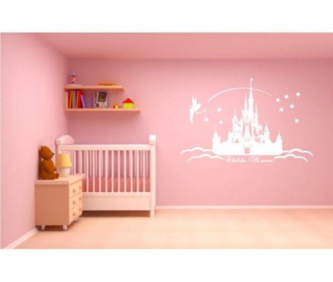 Disney Castle Wall Art     Baby Girl Room