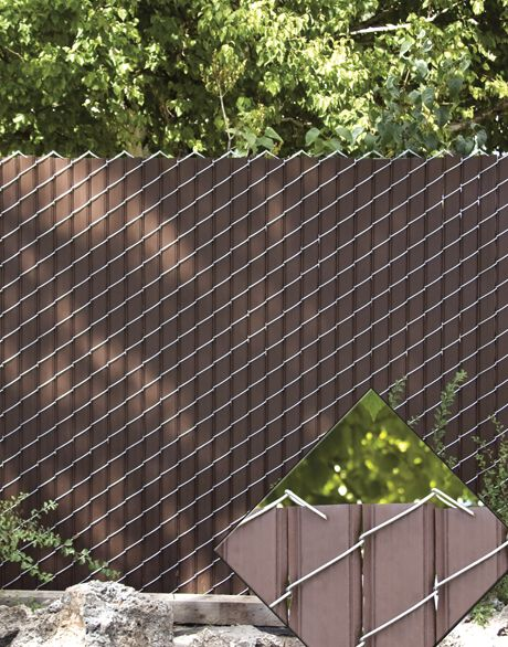 Chain Link Fence With Privacy Slats Cheaper Alternative Than Wood