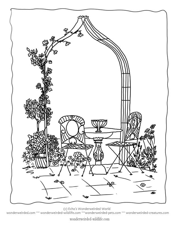 Flower Coloring Sheet 6 This is a formal garden design to