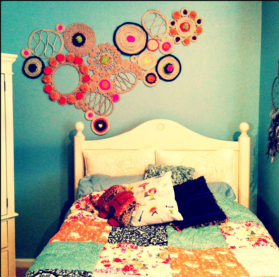 bedroom wall art by @Christina Ceruti | DIY Home Decor | Pinterest ...