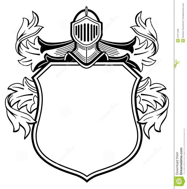 Shield Of Arms Base Coat Of Arms Family Crest Template