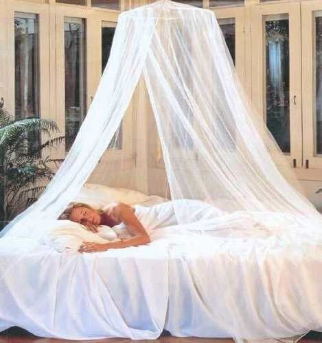 Pabell n mosquitero elegante para cama doble individual - Como hacer un pabellon para cama ...
