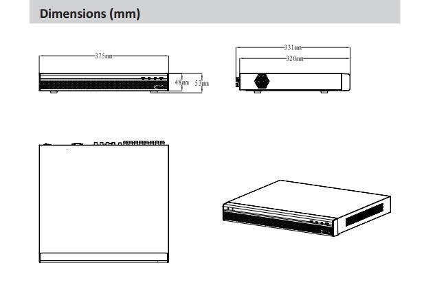 DAHUA 8/16 Channel 1080P 1U Digital Video Recorder Without Logo HCVR8208A-S3/HCVR8216A-S3