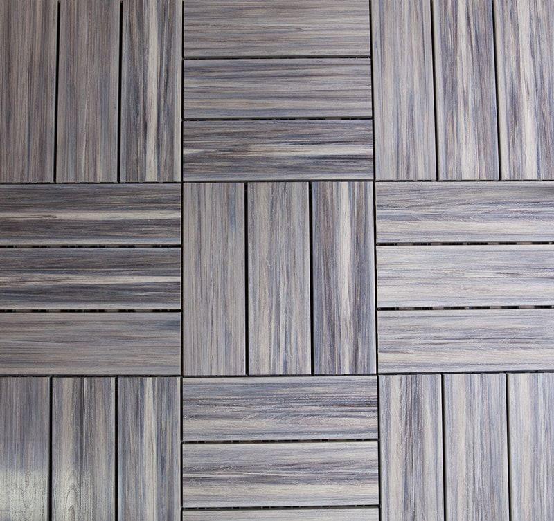 Coastal Gray / 12''×12'' / Interlocking deck tile