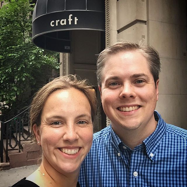 Another fantastic meal at our favorite spot in NYC.  Thank you to everyone at @craft_newyork  #blessed #nyc #crazygood