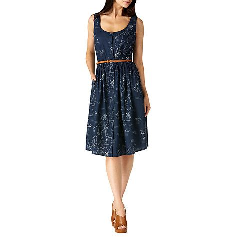 Buy Sugarhill Boutique Beatrice Map Sun Dress Navy Online at