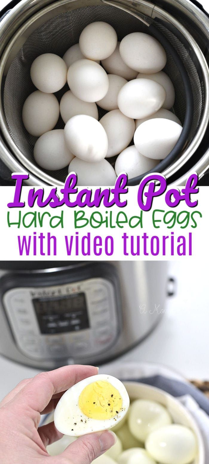 Instant Pot Hard Boiled Eggs - A Mom's Impression