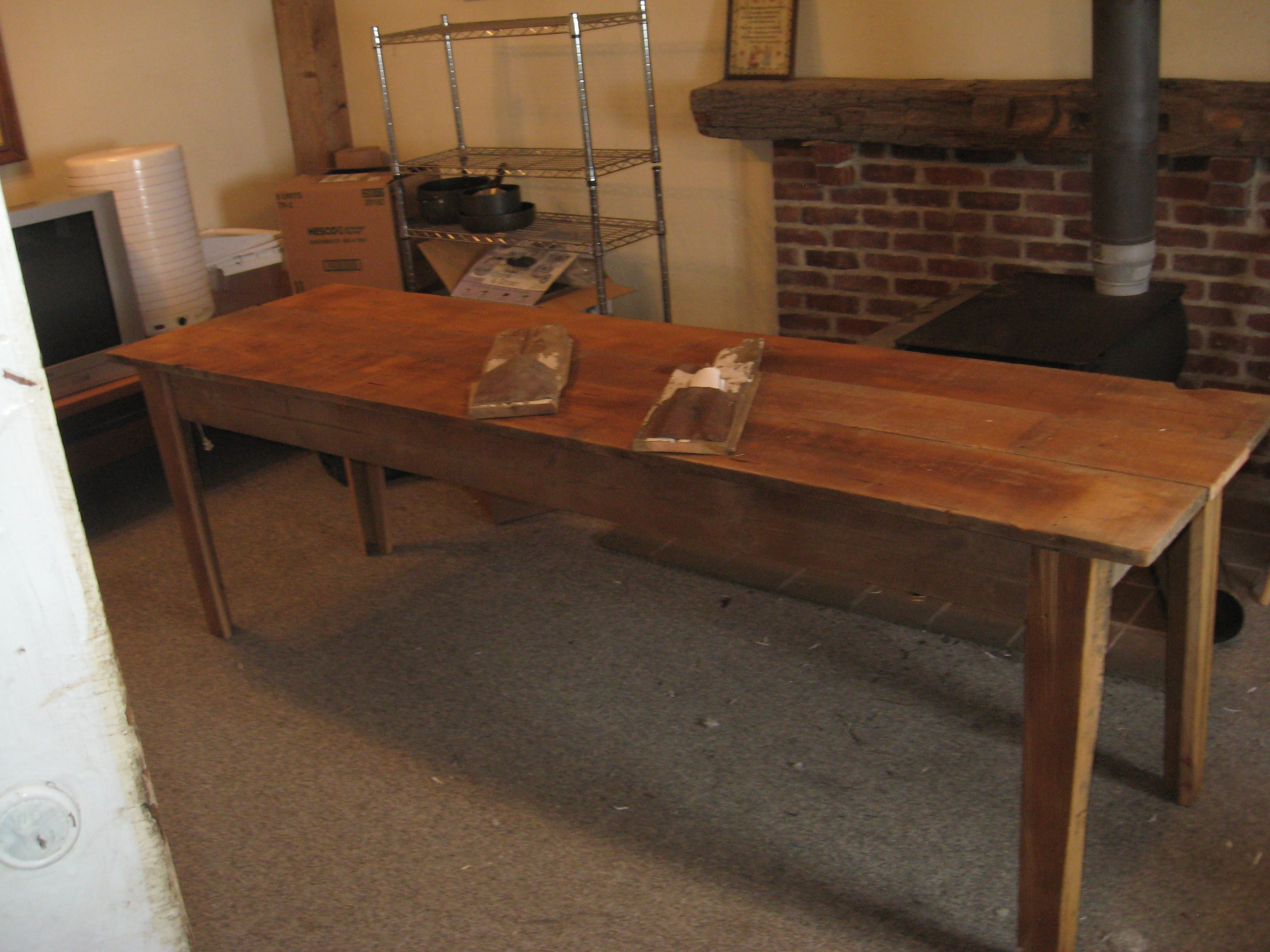 Bon Harvest Table As Narrow Kitchen Island (8 Ft By 28 Inch Unfinished)My  Husband Needs To Build This For Me!