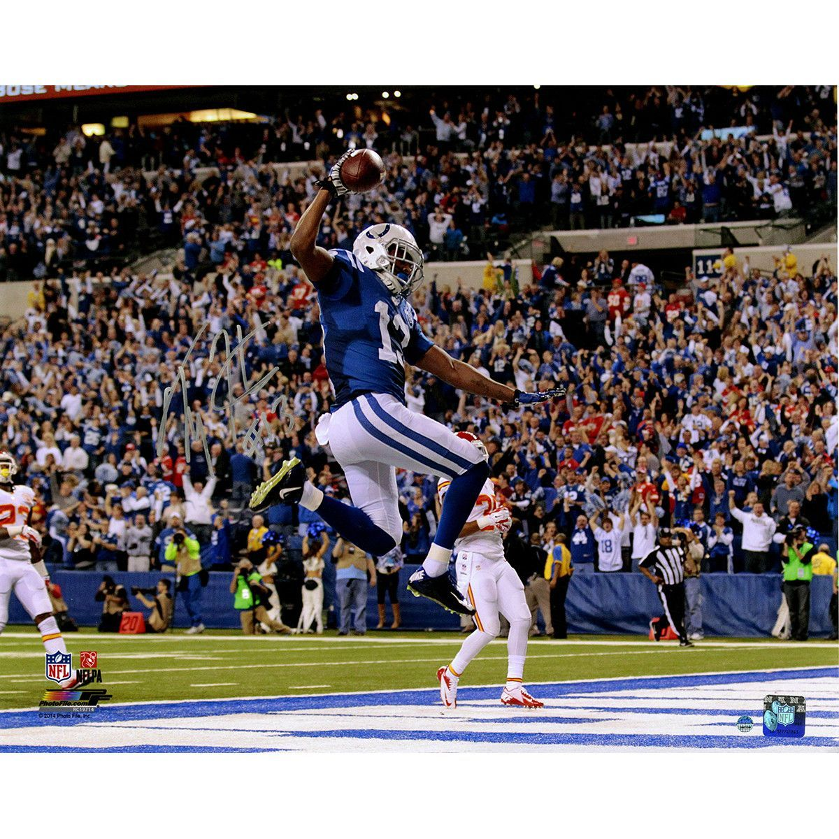 T Y Hilton Signed Indianapolis Colts Touchdown 16x20