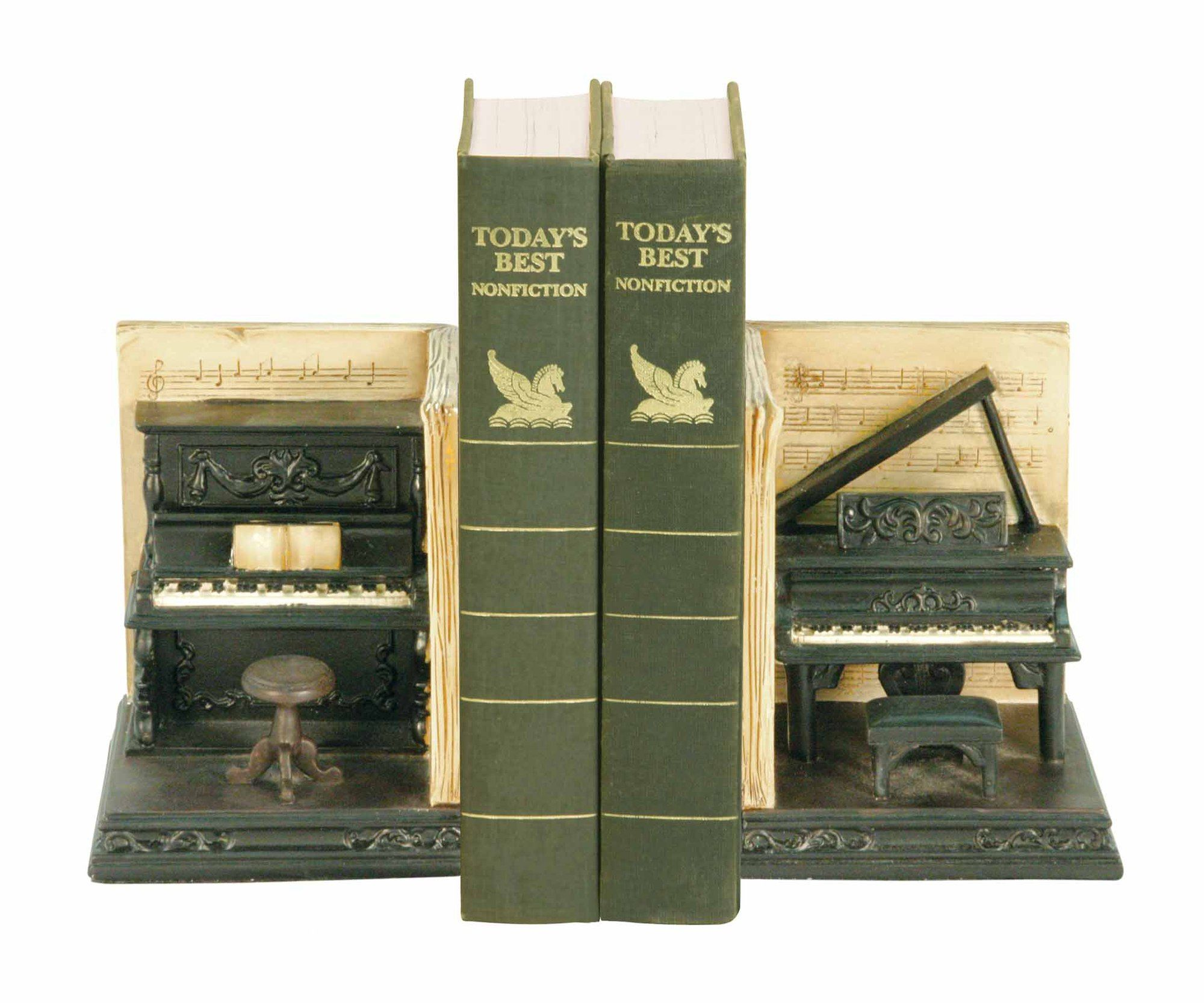 Sterling Industries Pair Dueling Piano Bookends