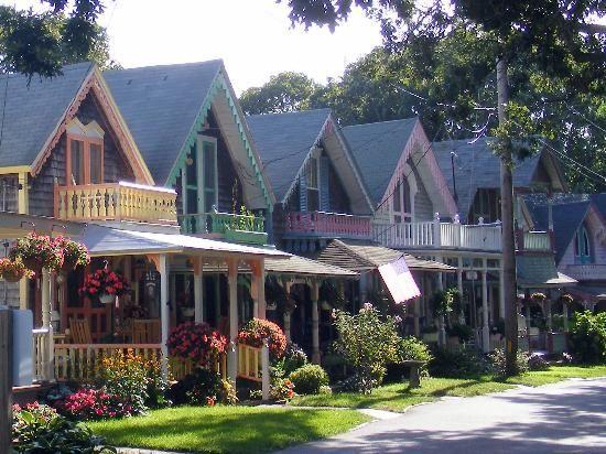 Martha S Vineyard Ma Old Methodist Camp Houses On The
