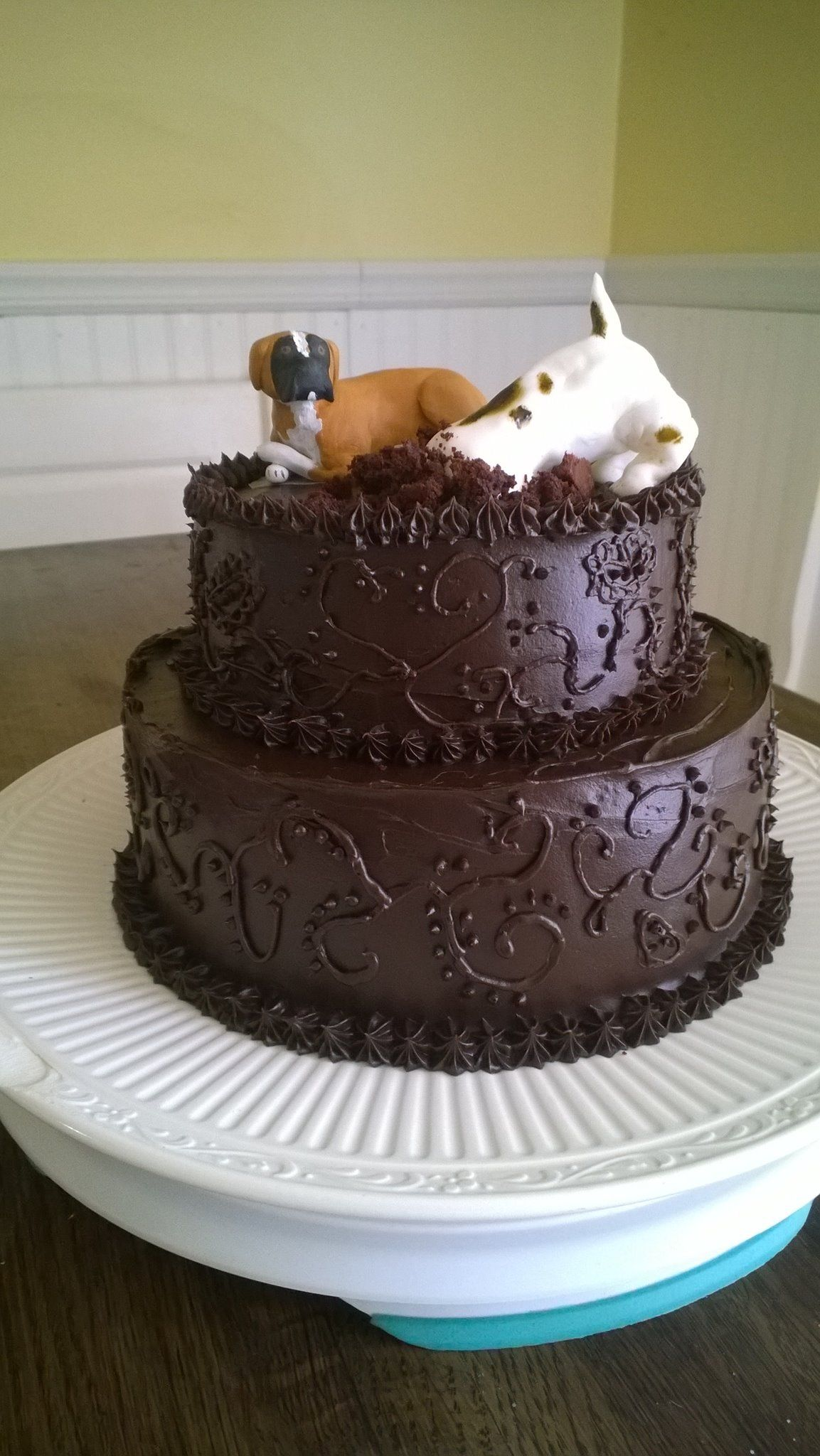 Boxer Amp Jack Russell Birthday Cake I Made For My Mother In