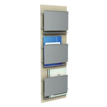 3D Model Of Wall Mounted Magazine Rack 01 03