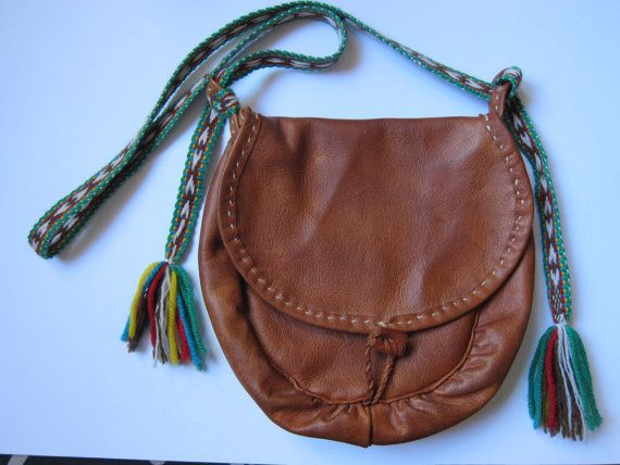 Saami purse from Northern Sweden.  Reindeer leather.
