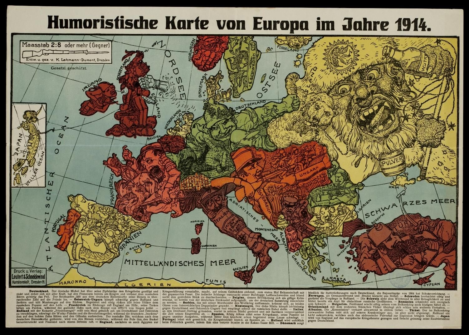 Map Of Wurope%0A Carte de propagande pendant la guerre de The second of two maps by Karl  LehmannDumont  both published in Dresden in both called  u   cHumoristische  Karte von