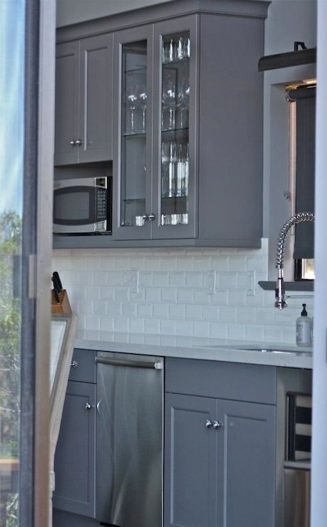 William Adams Design Kitchens Gray Walls Gray