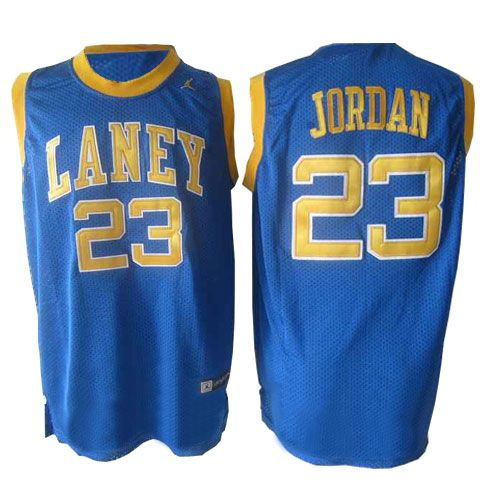 23b7633c3e1 Men's Michael Jordan Authentic Blue Jersey: Nike #23 NBA Chicago Bulls  Laney High School Classic Throwback