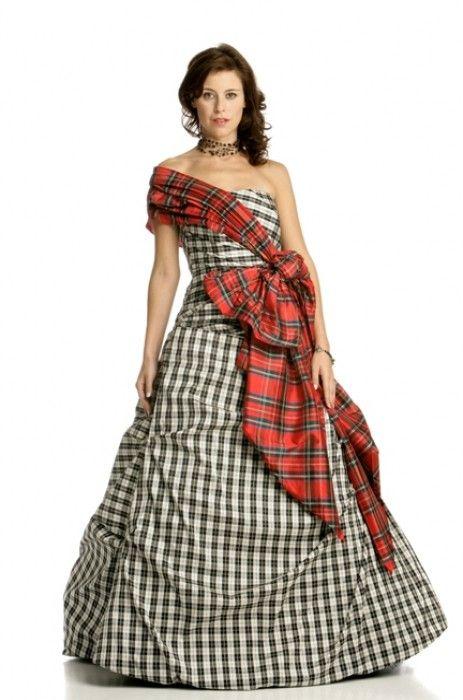 tartan gown | Katies and Tiggers wedding stuffs | Pinterest | Tartan ...