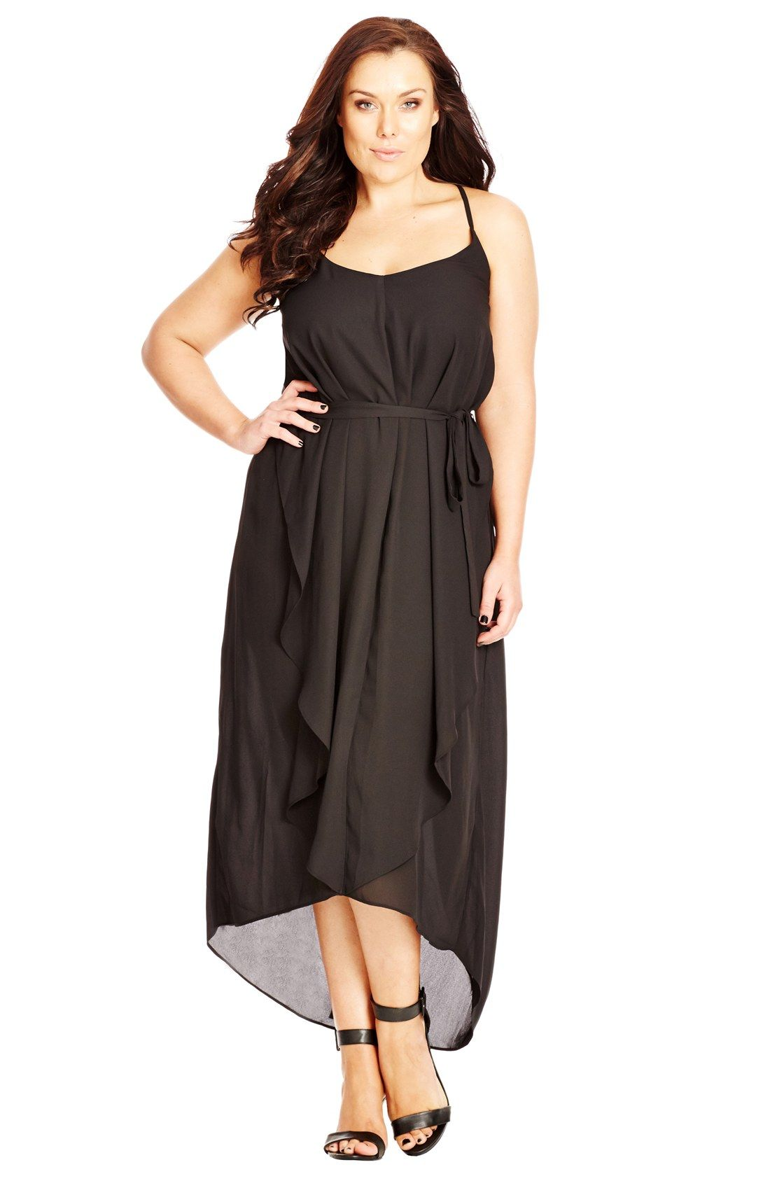 City chic strappy vneck maxi dress plus size