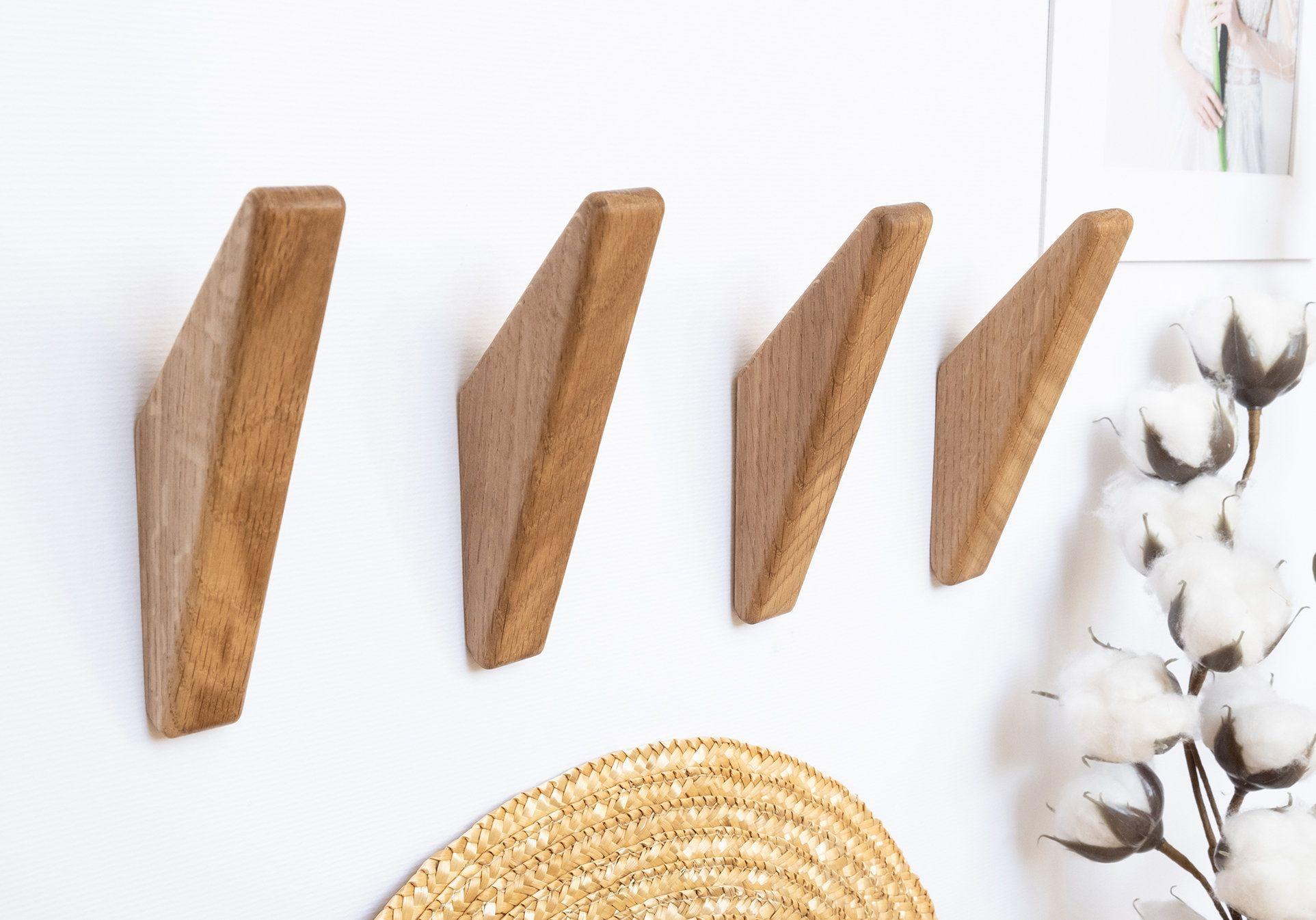 Oak Wood Wall Hooks Coat Hooks Etsy In 2021 Wooden Wall Hooks Wooden Hooks Wood Wall Hooks