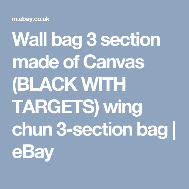 BLACK WITH TARGETS Senshi Japan Wall bag 3 section made of Canvas wing chun 3-section bag