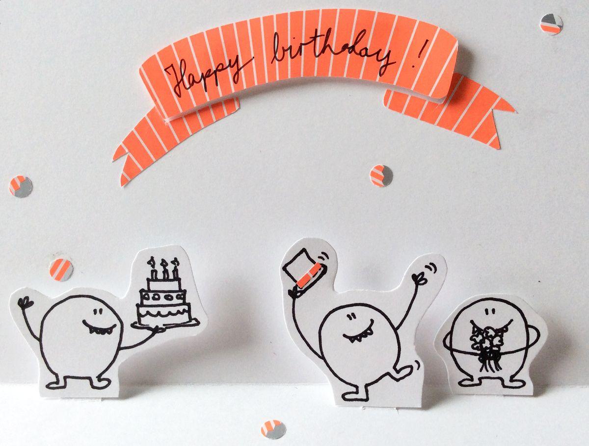 Geburtstag Popup-Karte DIY, happy birthday greeting popup card
