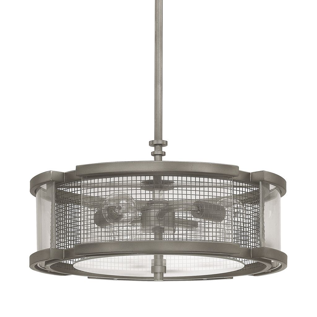Capital Lighting Donny Osmond Carson Collection 3-light Graphite Pendant