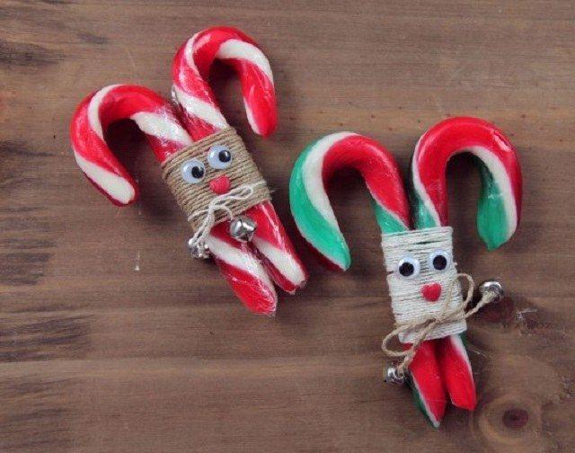 Bastones navideños en forma de renos   Ideas para Decoracion