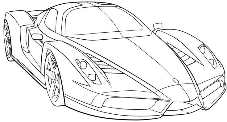 Printable Coloring Car Pages