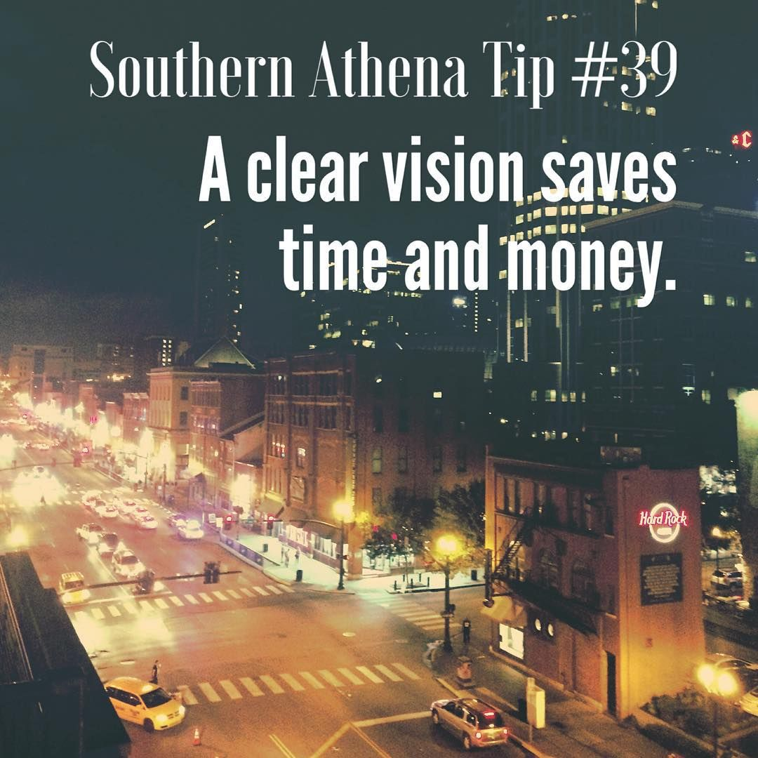 A clear vision saves time and money. #southernathenatips #nashville #citylights #broadway #honkeytonk #realestateagent #followyourdreams