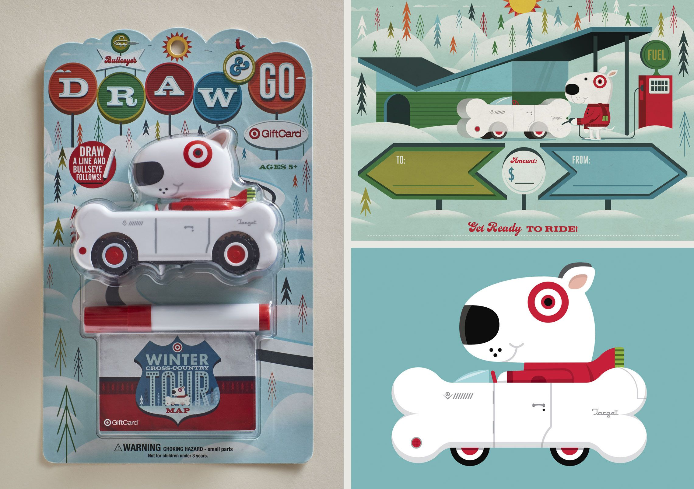 Target Gift Card New In Package Bullseye Draw /& Go Toy