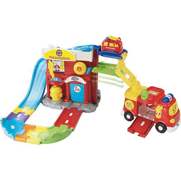 Vtech Tut Tut Baby Flitzer Spielset Feuerwehrhaus Auto Kleinkindspielzeug With Images Playset Learning Toys Toy Fire Trucks