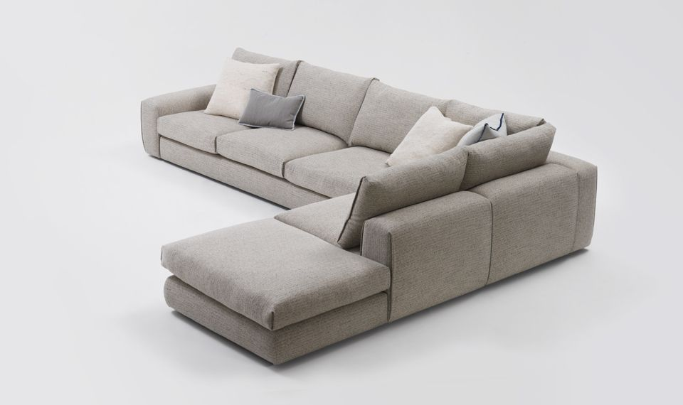 Hand crafted to create the illusion of a seamless sofa