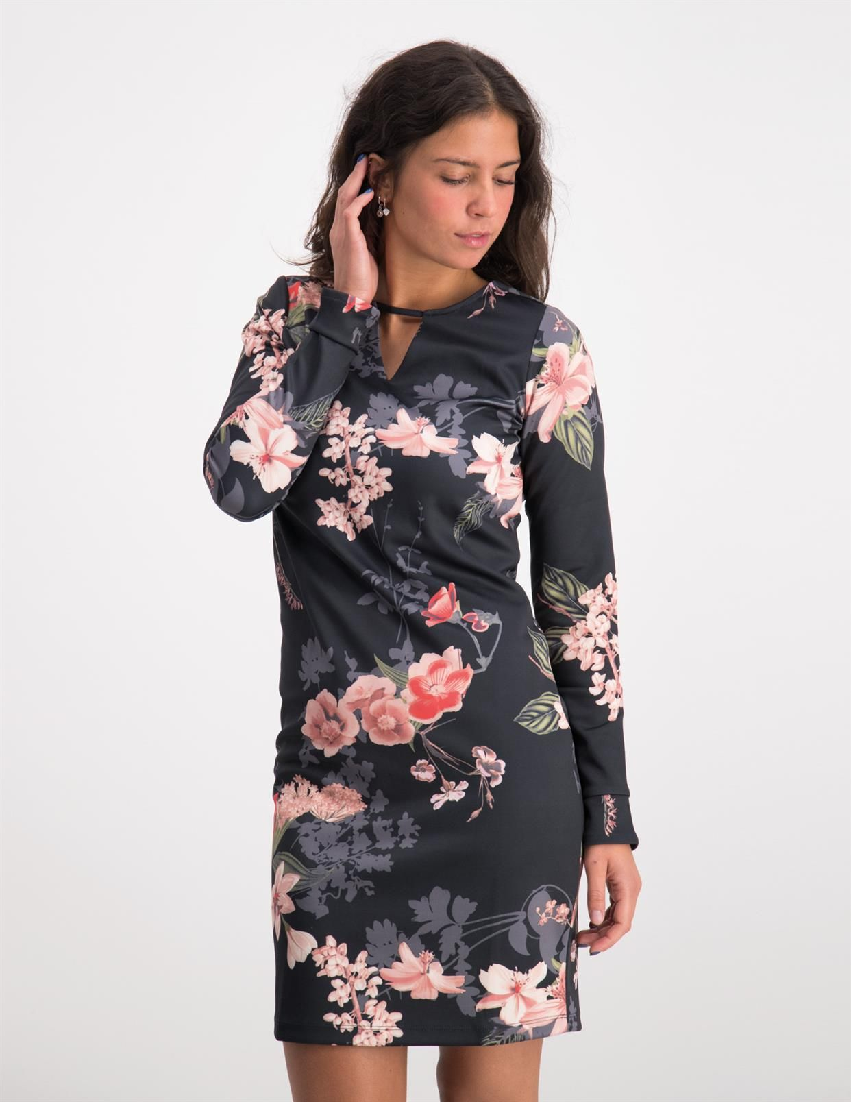 3ea16aa0a379ec Tramontana Dress Flower Print D11-89-501