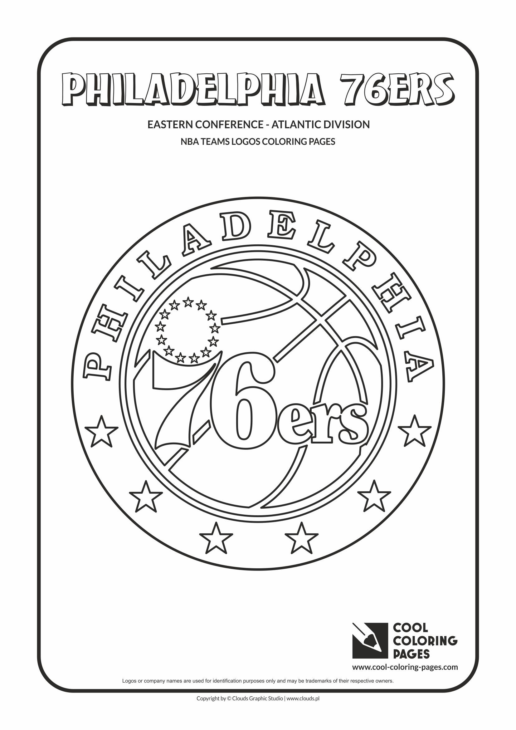 Philadelphia 76ers Nba Basketball Teams Logos Coloring Pages