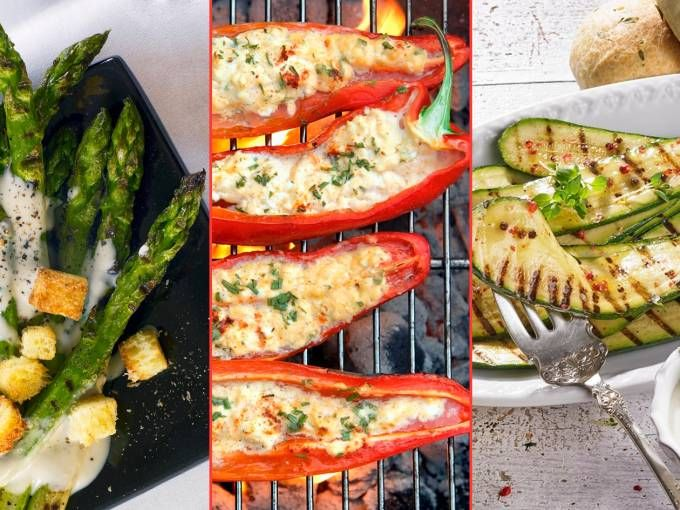 Photo of Grilled bell pepper with sheep's cheese & rosemary