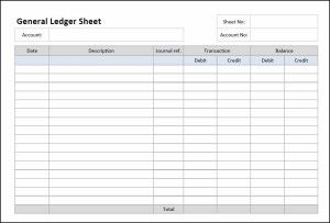 This Free General Ledger Sheet Can Be Used To Produce Ledger