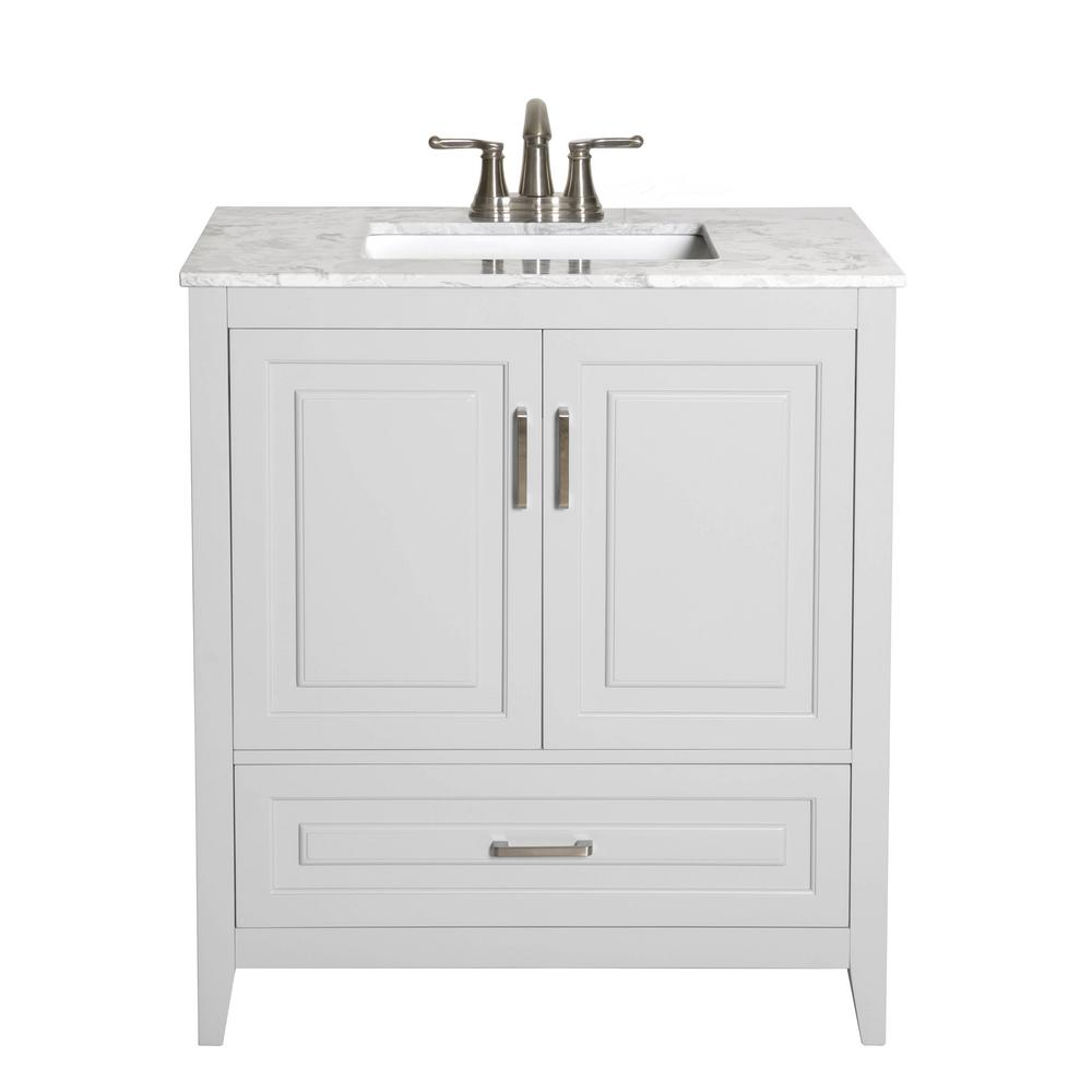 Decor Living Leland 30 In W X 19 In D Bath Vanity In Gray With