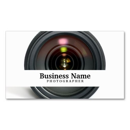 Photographer camera lens business cards make your own business card photographer camera lens business cards make your own business card with this great design reheart Image collections