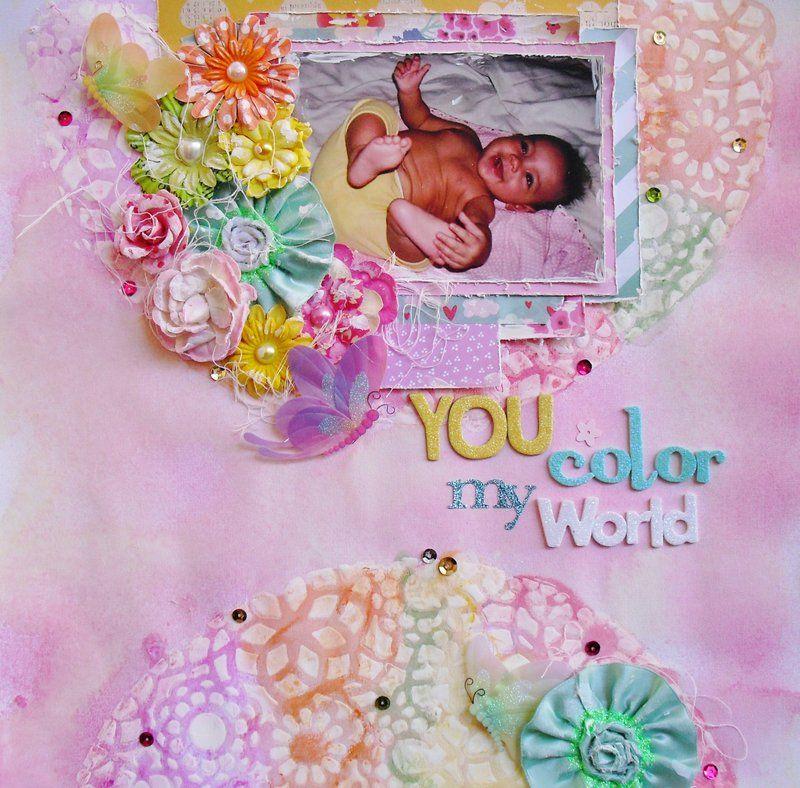You color my world - Scrapbook.com