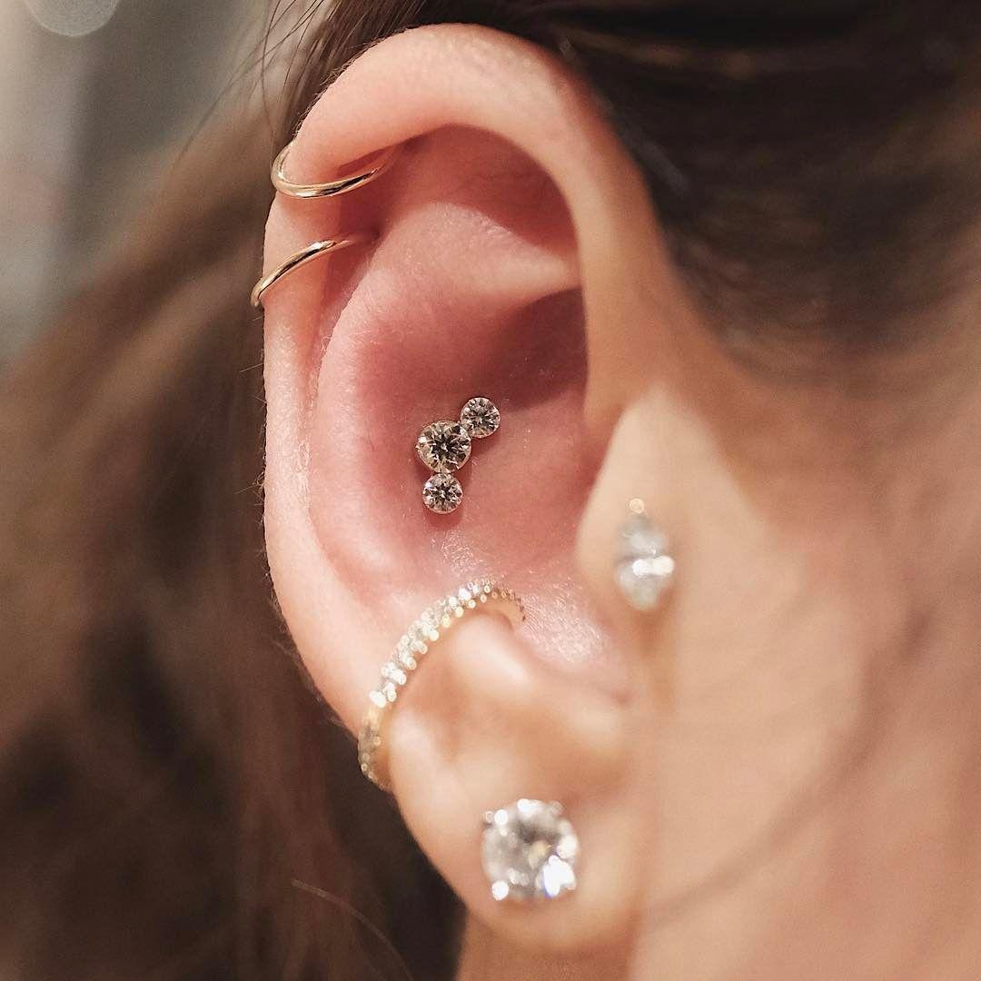 Cartilage Piercing Jewelry  Instagram Double Piercings