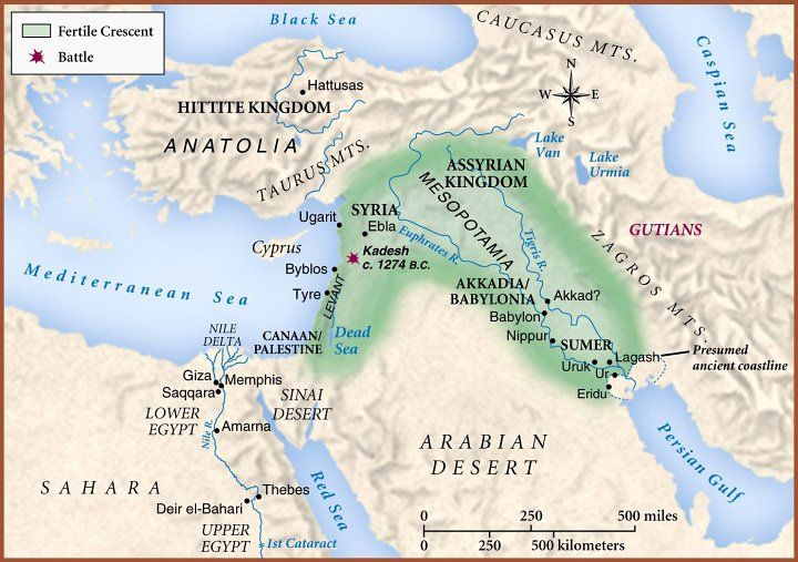 The Fertile Crescent Map The Map Of Mesopotamia And The Fertile Crescent Came From  The Fertile Crescent Map