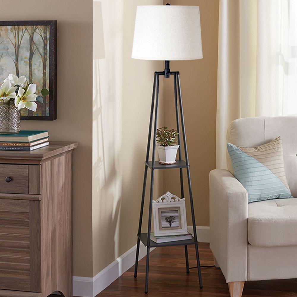 Catalina Lighting 2Shelf Floor Lamp Floor lamp with