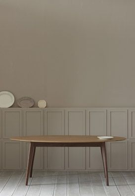 Simple And Elegant Product Shot Oval Table Dining Modern Oak