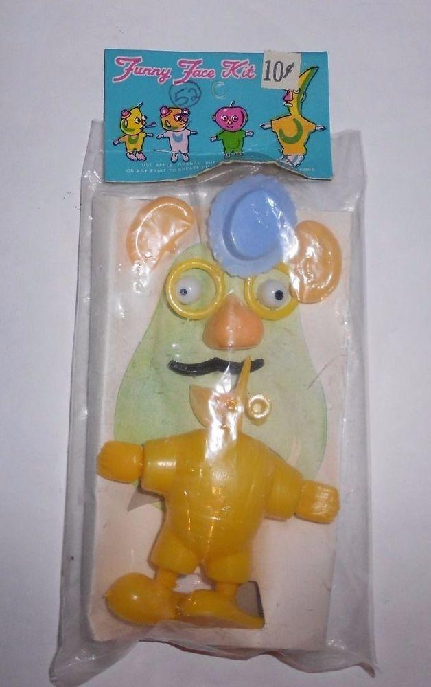 Vintage Plastic Funny Face Kit Home Made Mr Potato Head