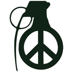 Grenade With Peace Sign Tattoo Idea Cool Stuff